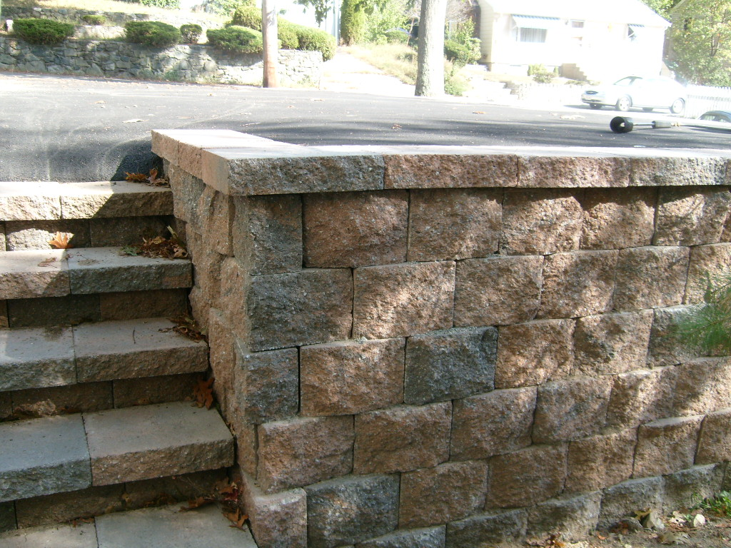 Retaining Wall Block Caps Home Depot : Home depot pavestone retaining wall submited images